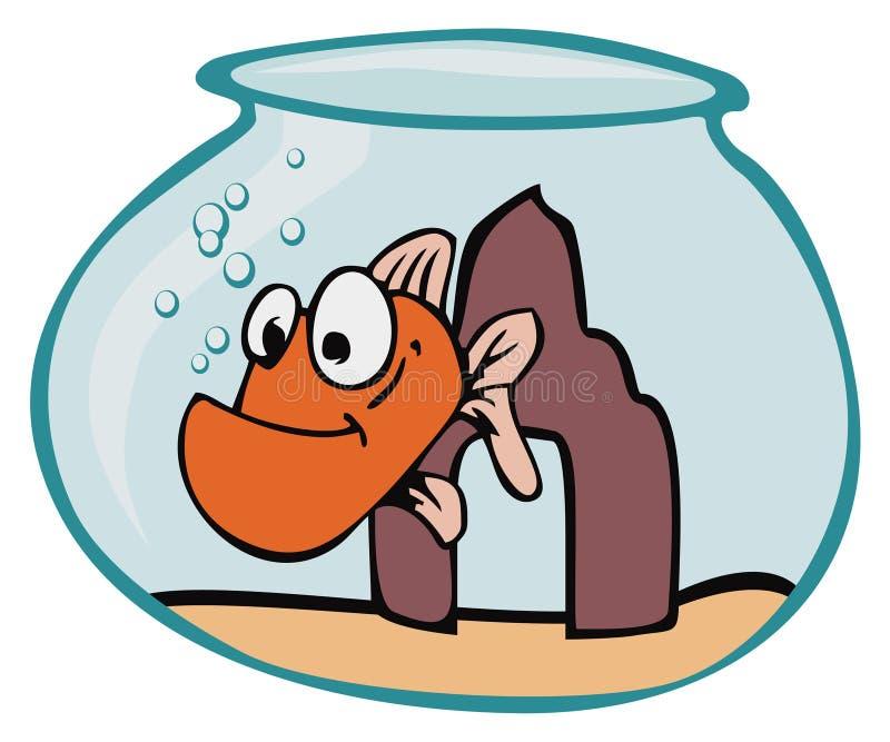 kreskówki ryb ilustracja wektor