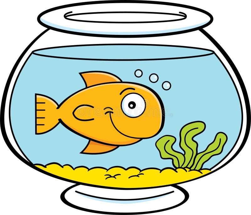 Kreskówki ryba w rybim pucharze ilustracji