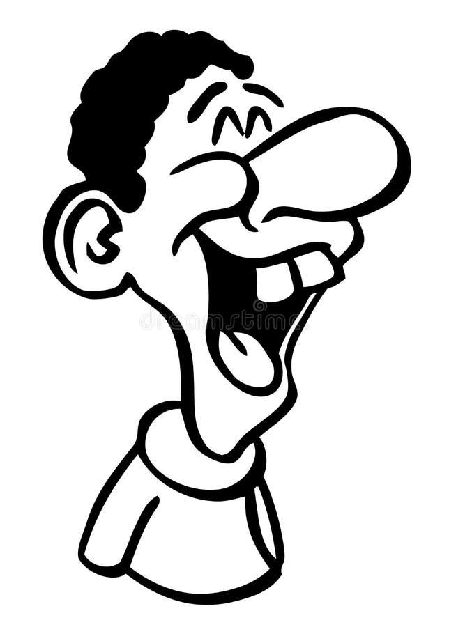 kreskówki rysunku roześmiany mężczyzna ilustracji