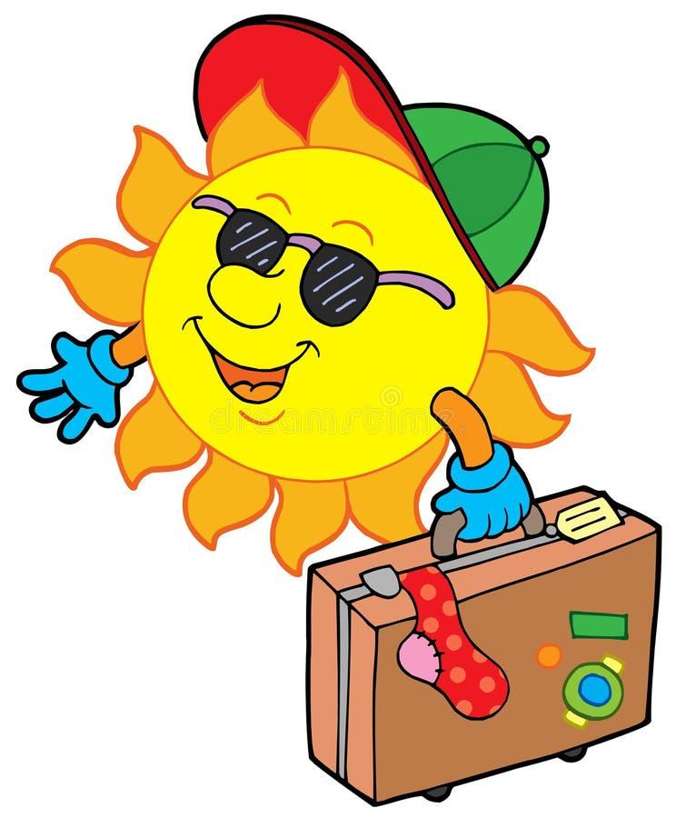 kreskówki słońca podróżnik royalty ilustracja