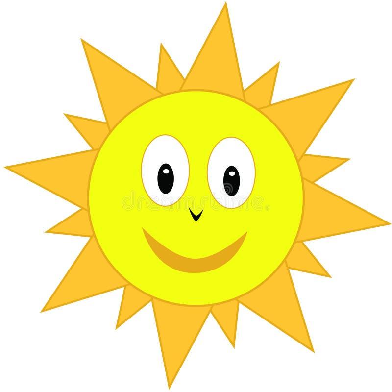 kreskówki słońce royalty ilustracja