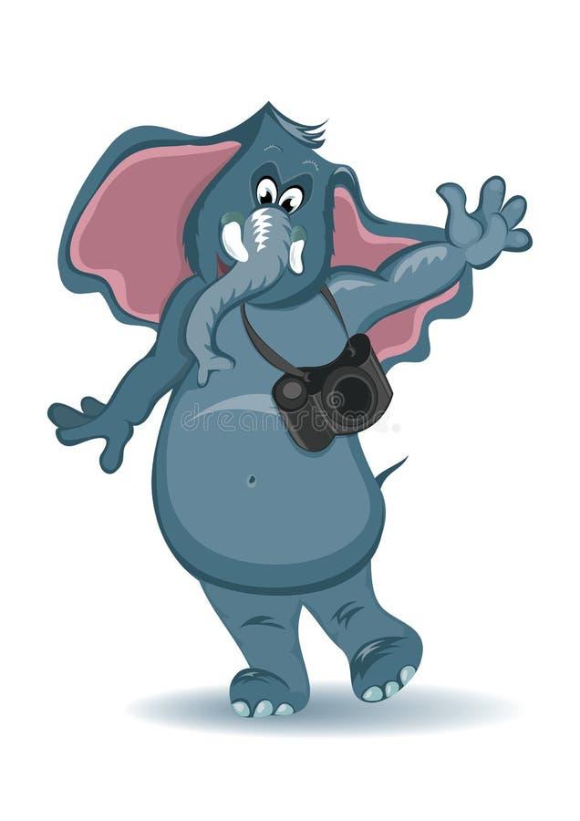 kreskówki słonia fotograf ilustracji