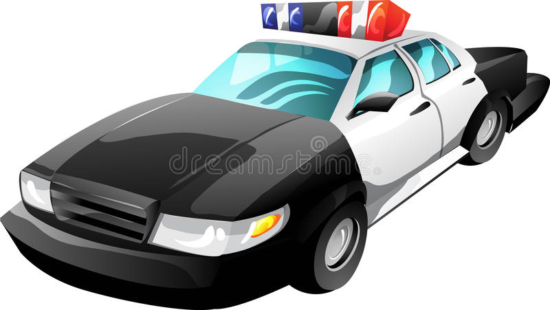 kreskówki samochodowa policja ilustracja wektor