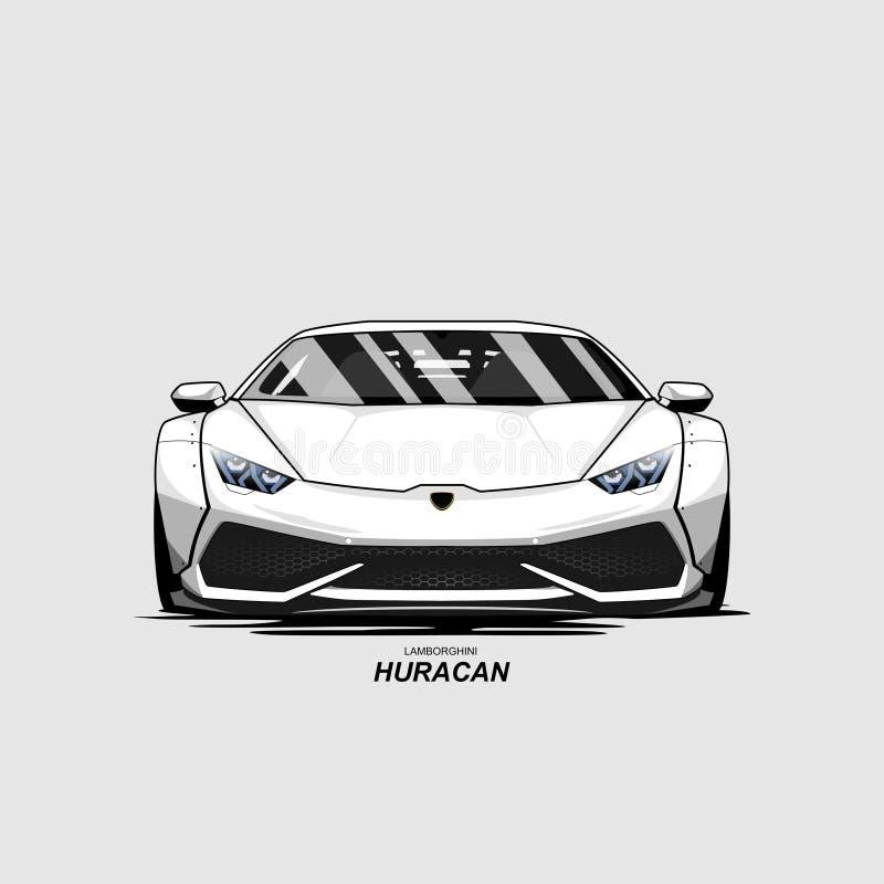 Kreskówki samochodowy lamborghini huracan fotografia royalty free