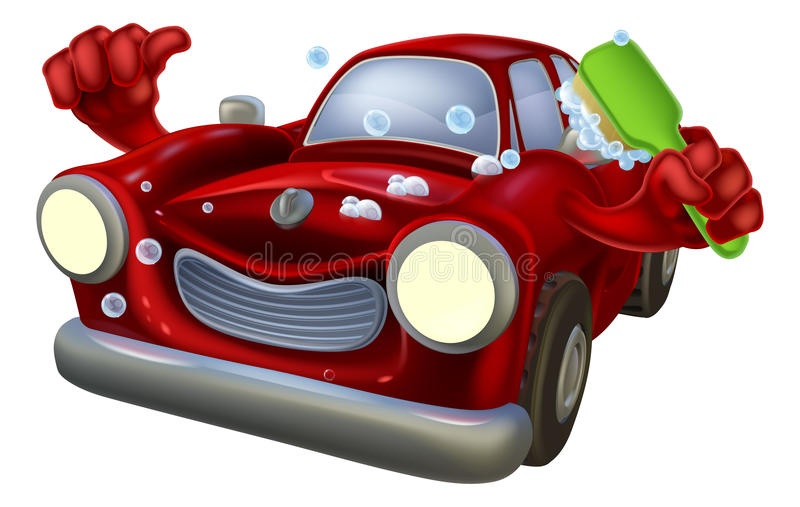 Kreskówki samochodowy obmycie ilustracji