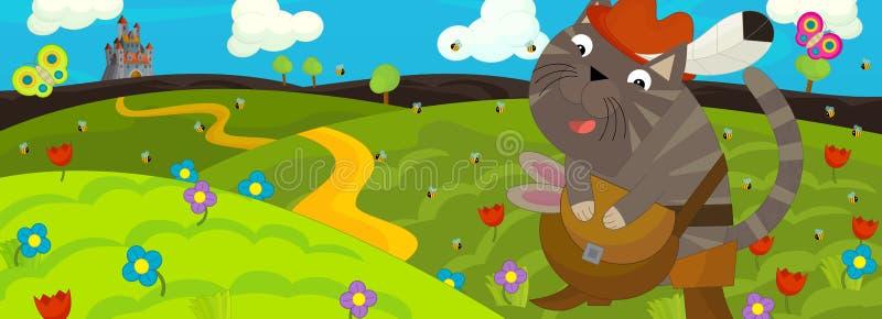 Download Kreskówki scena - kasztel ilustracji. Ilustracja złożonej z tło - 53775564