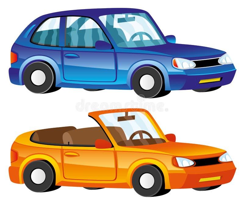 kreskówki serc biegunowy setu wektor samochody royalty ilustracja