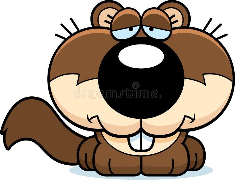 Kreskówki Smutna wiewiórka ilustracji