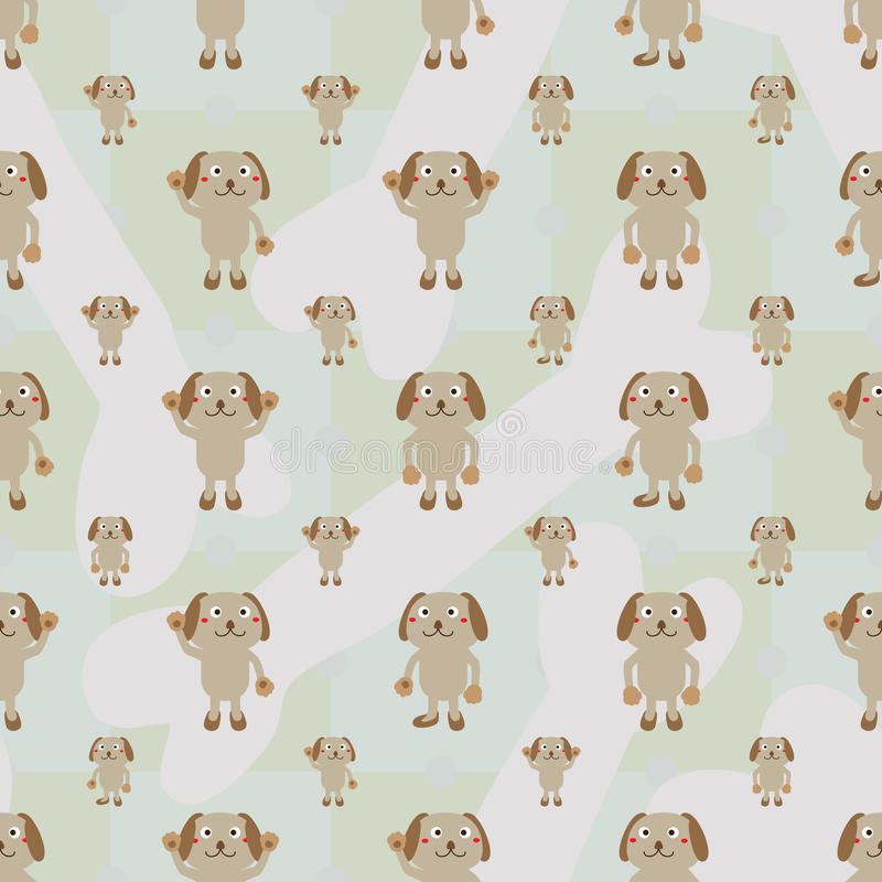 Kreskówki symetrii psiej kości bezszwowy wzór ilustracji