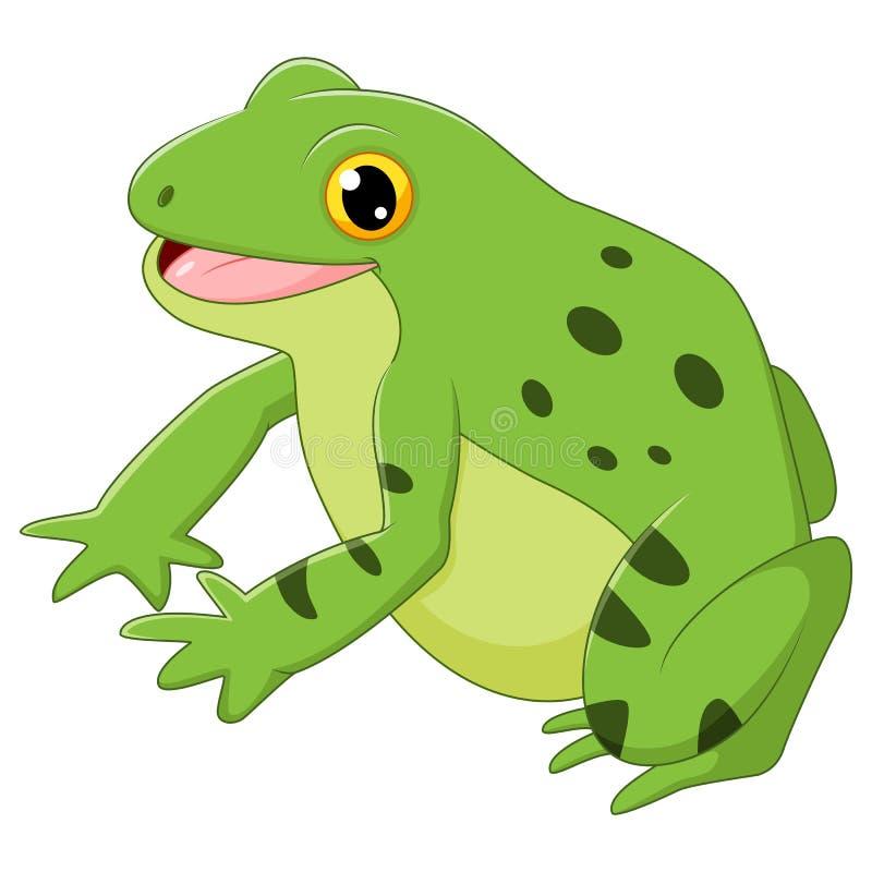 Kreskówki szczęśliwa żaba royalty ilustracja