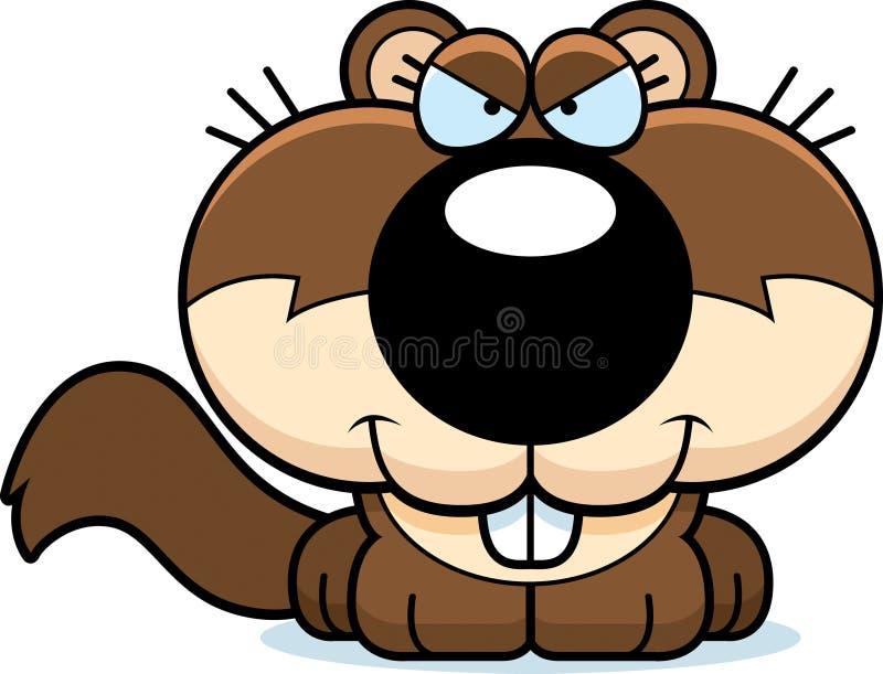 Kreskówki Szczwana wiewiórka royalty ilustracja