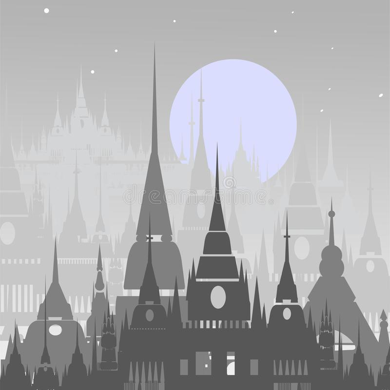 Kreskówki tło Arabski miasteczko zdjęcie stock