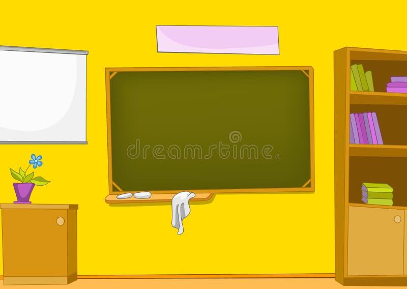 Kreskówki tło schoolroom royalty ilustracja