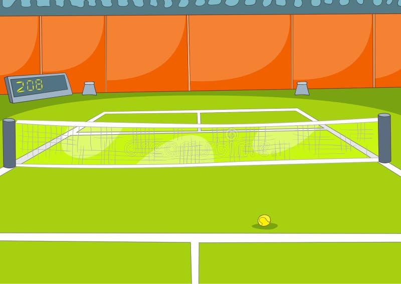Kreskówki tło tenisowy sąd royalty ilustracja