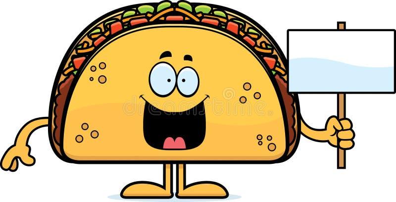 Kreskówki Taco znak royalty ilustracja