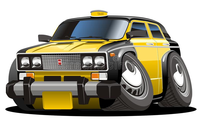 kreskówki taxi wektor ilustracji