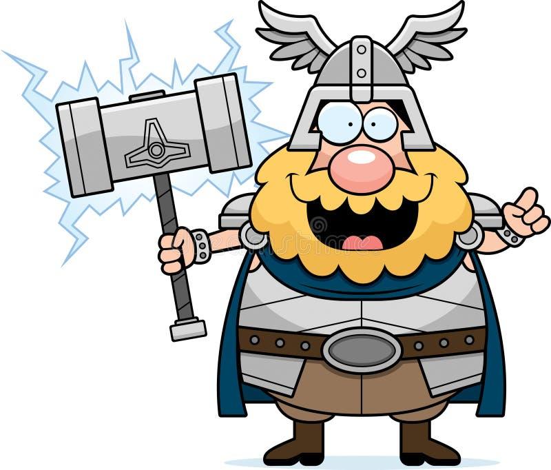 Kreskówki Thor pomysł ilustracja wektor