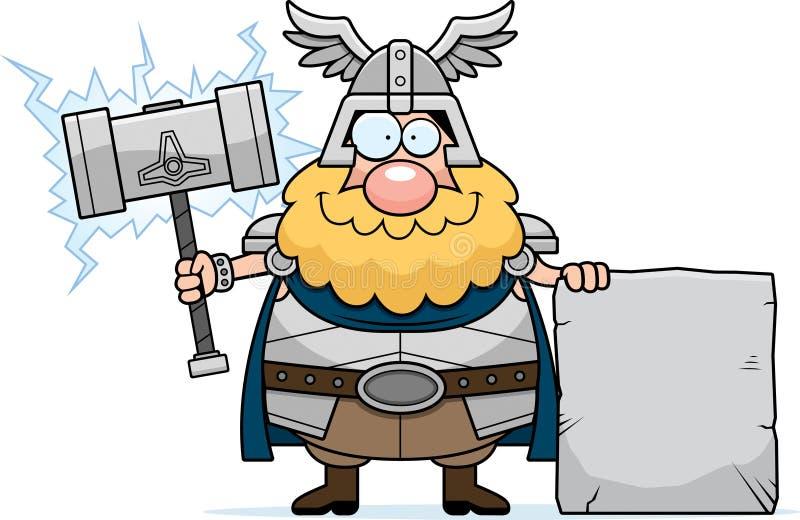 Kreskówki Thor znak ilustracja wektor
