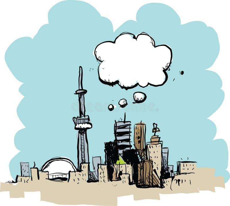Kreskówki Toronto główkowanie ilustracji