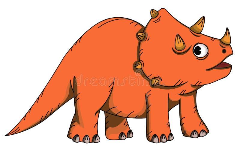 kreskówki triceratops ilustracji