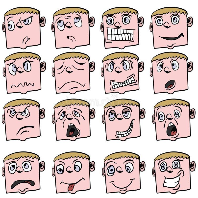 Kreskówki twarz ilustracji