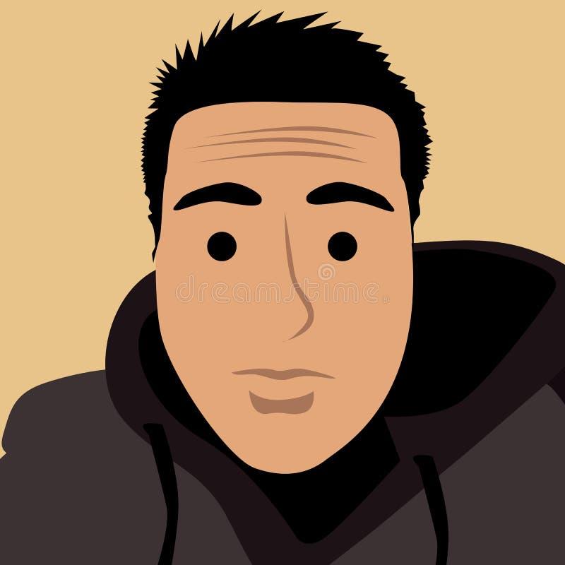 Kreskówki twarzy selfie fotografia ilustracja wektor