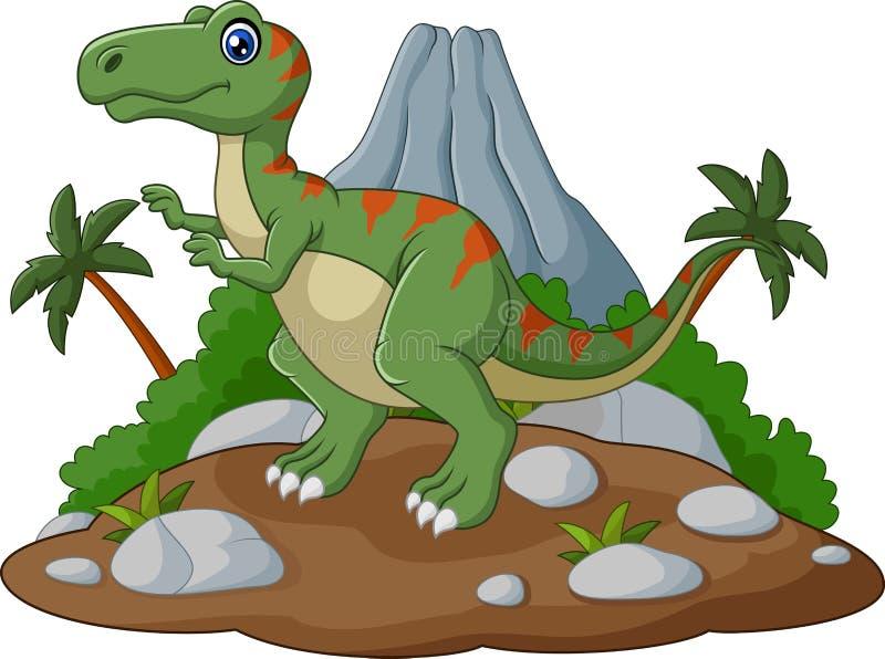 Kreskówki tyrannosaurus Śliczna kreskówka ilustracji