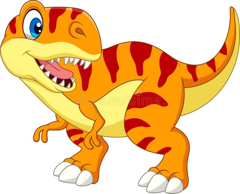 Kreskówki tyrannosaurus odizolowywający na białym tle ilustracji