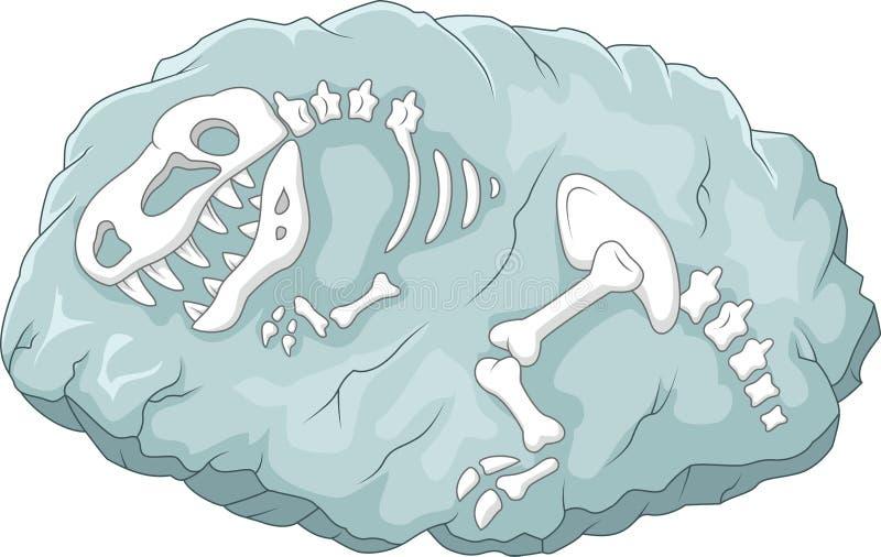 Kreskówki Tyrannosaurus rex skamielina ilustracja wektor