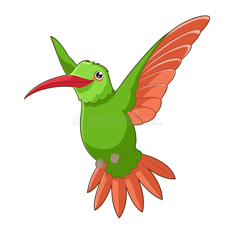 Kreskówki uśmiechnięty Hummingbird royalty ilustracja