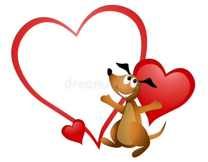 kreskówki valentine psi kierowy ilustracja wektor