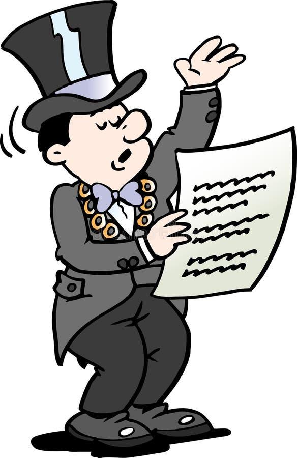 Kreskówki Wektorowa ilustracja Mayor czyta zawiadomienie ilustracja wektor