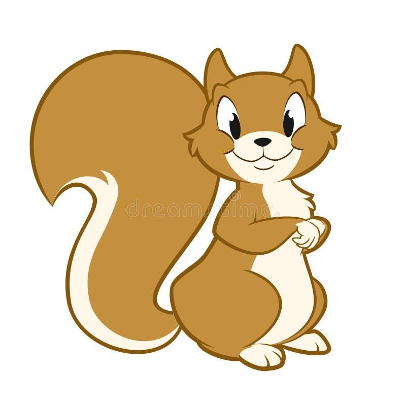 Kreskówki wiewiórka royalty ilustracja