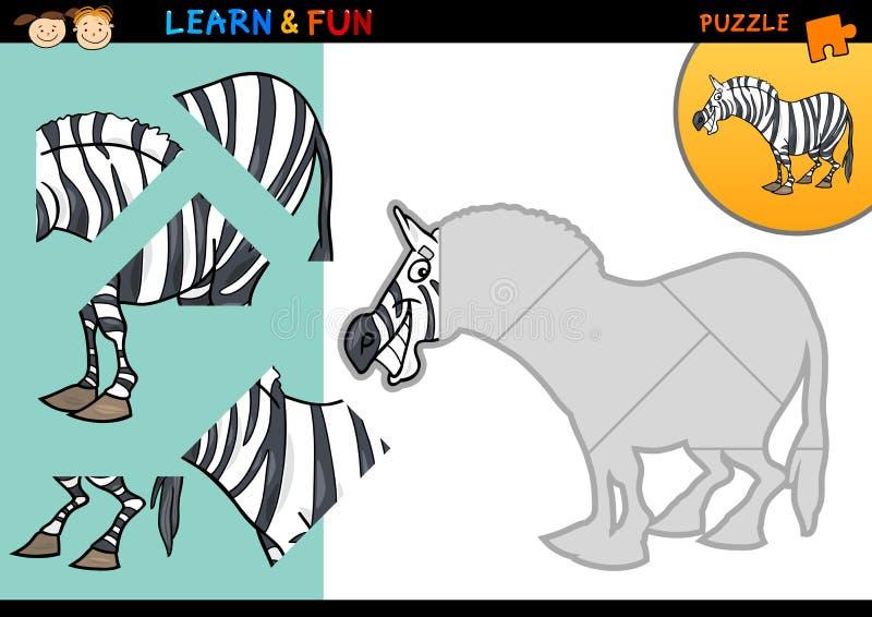 Kreskówki zebry łamigłówki gra royalty ilustracja