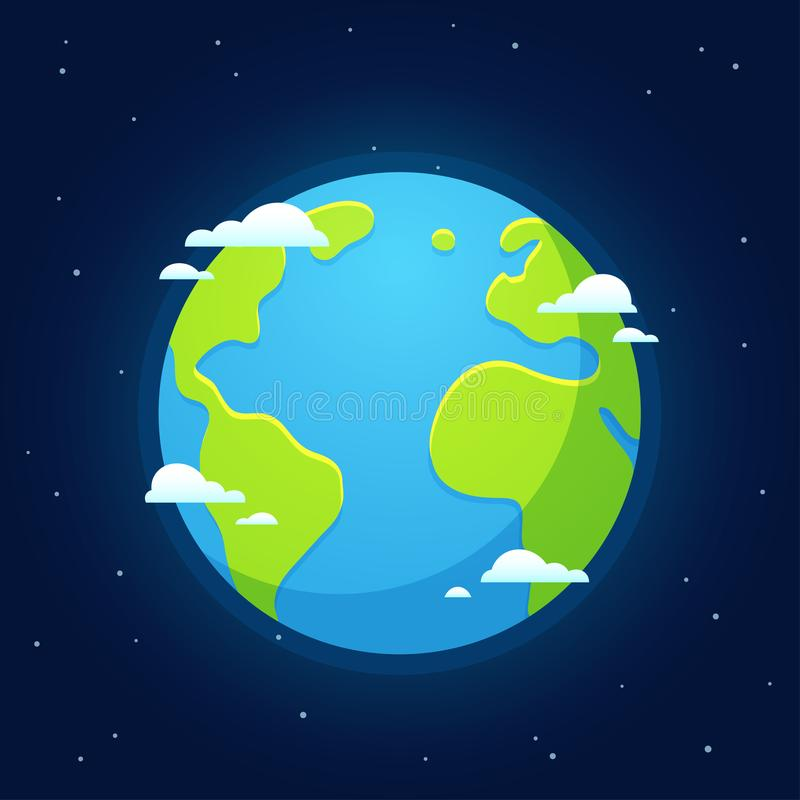Kreskówki ziemia od przestrzeni ilustracji