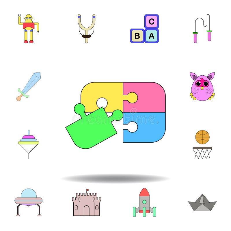 Kresk?wki ?amig??wki zabawki barwiona ikona set dziecko zabawek ilustracji ikony znaki, symbole mogą używać dla sieci, logo, mobi ilustracji