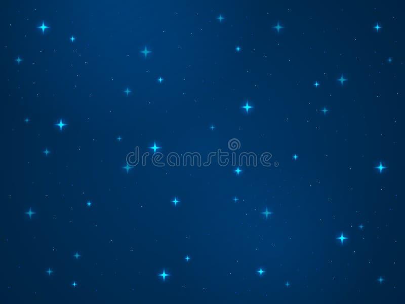 Kresk?wki Astronautyczny t?o Gwiazda kosmosu nocy gwia?dzistego nieba py?u ?wiat?a gwiazdy drogi mlecznej galaxy astronomii wszec royalty ilustracja