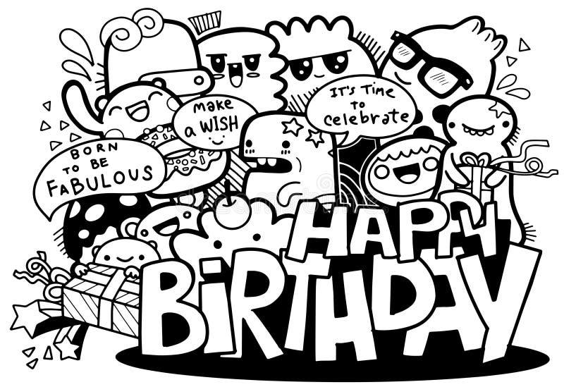 Kresk?wki wszystkiego najlepszego z okazji urodzin i ludzie obrazy royalty free