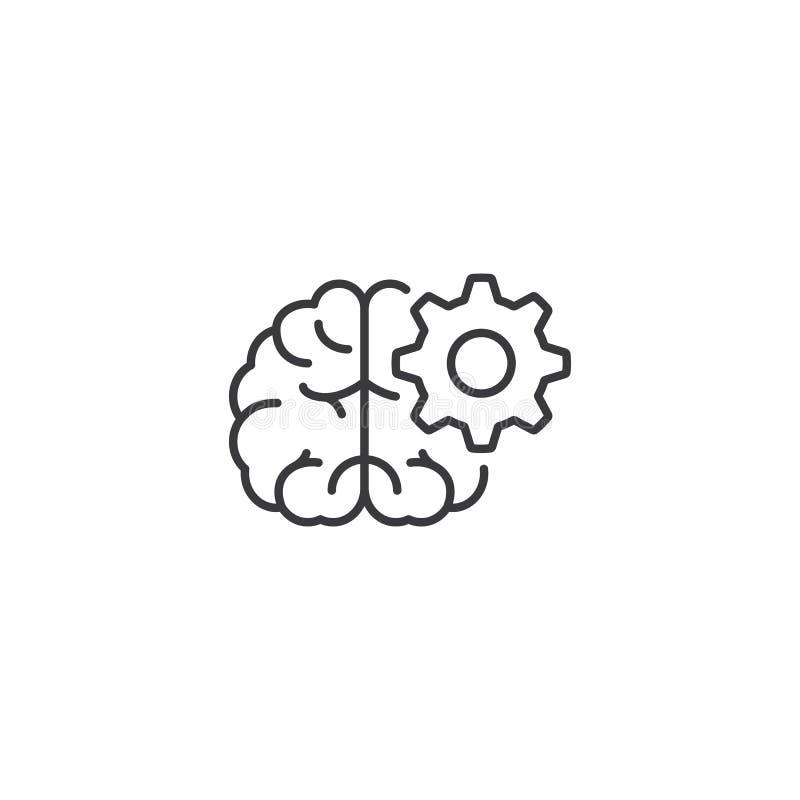 Kreskowa brainstorming ikona na białym tle royalty ilustracja