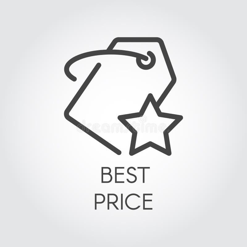 Kreskowa ikona dla online rozkazów i zakupy dla najlepszy ceny Promocyjny i reklamowy znak również zwrócić corel ilustracji wekto royalty ilustracja