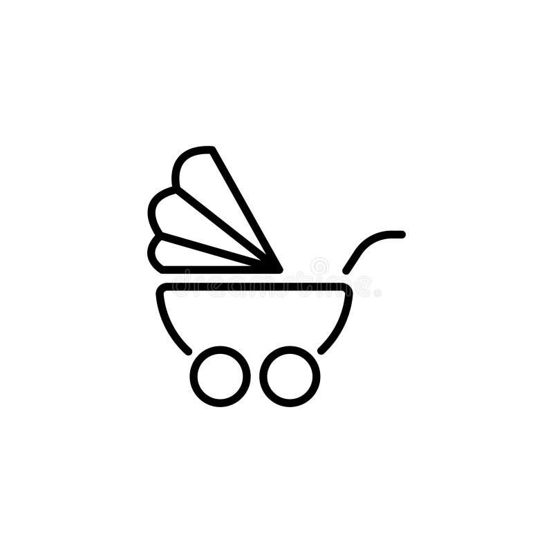 Kreskowa ikona Dziecko fracht ilustracji