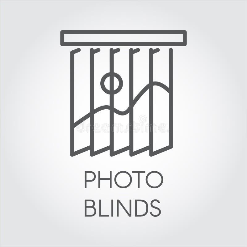 Kreskowa ikona fotografii story Prosty konturu logo dla różnych projekt potrzeb Domowy lub biurowy wystroju pojęcie ilustracja wektor