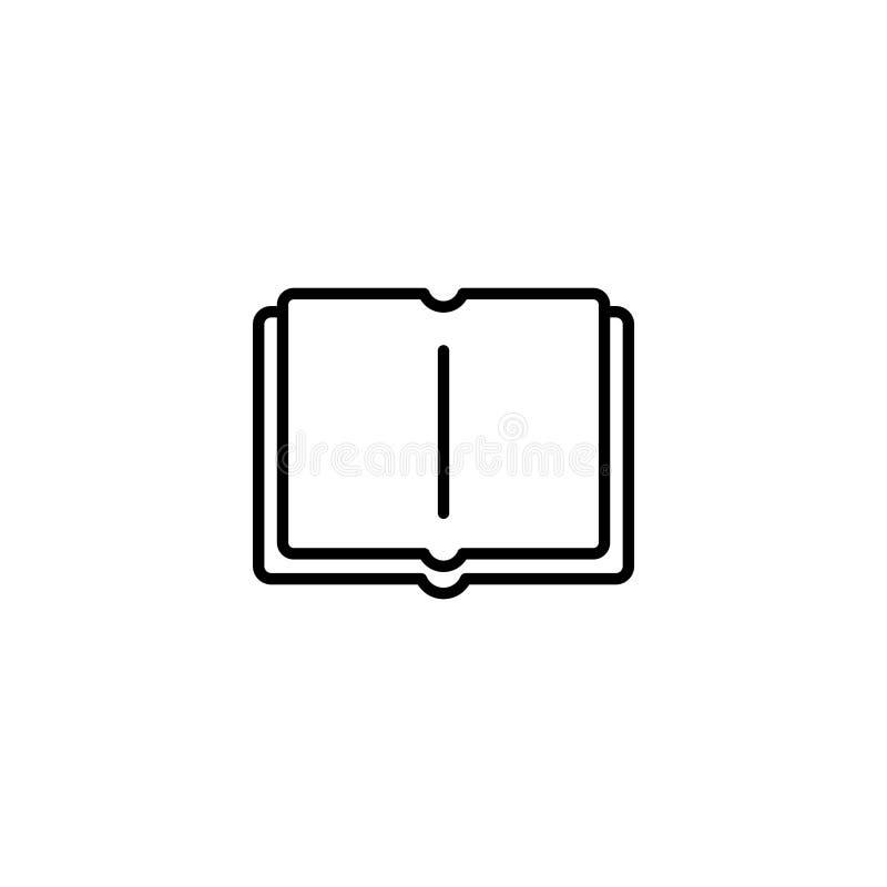Kreskowa ikona otwarta książka ilustracja wektor