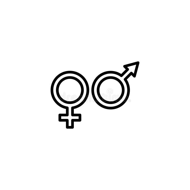 Kreskowa ikona Rodzaju symbol, symbole mężczyzna i kobiety, royalty ilustracja