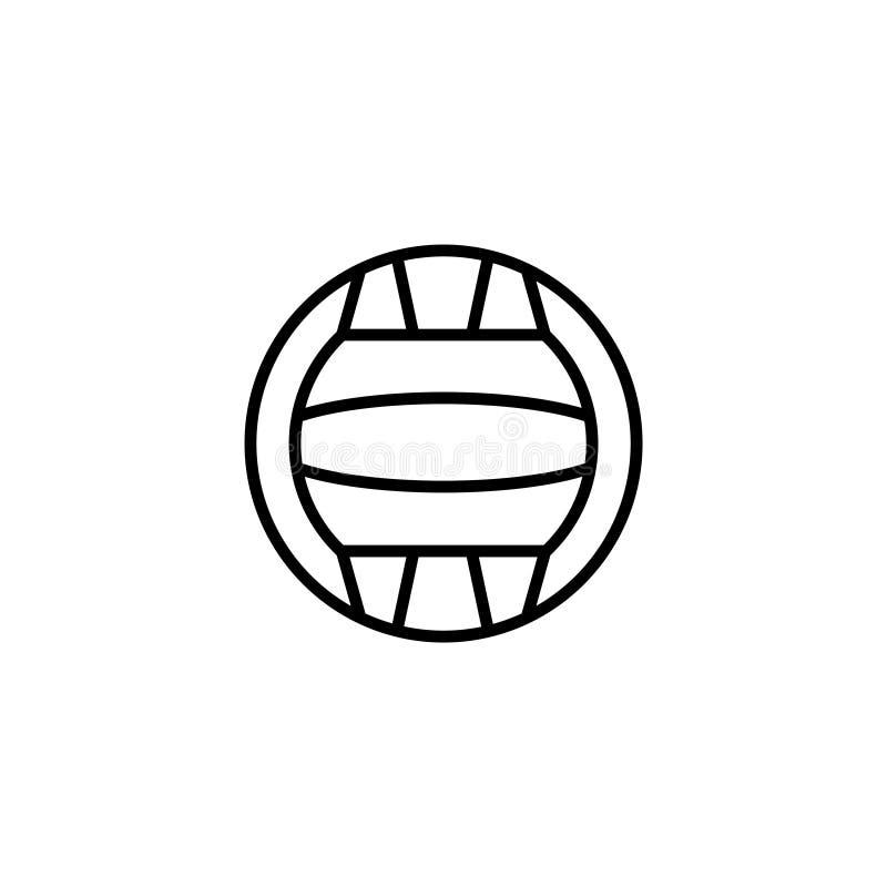 Kreskowa ikona Wodny polo ilustracji