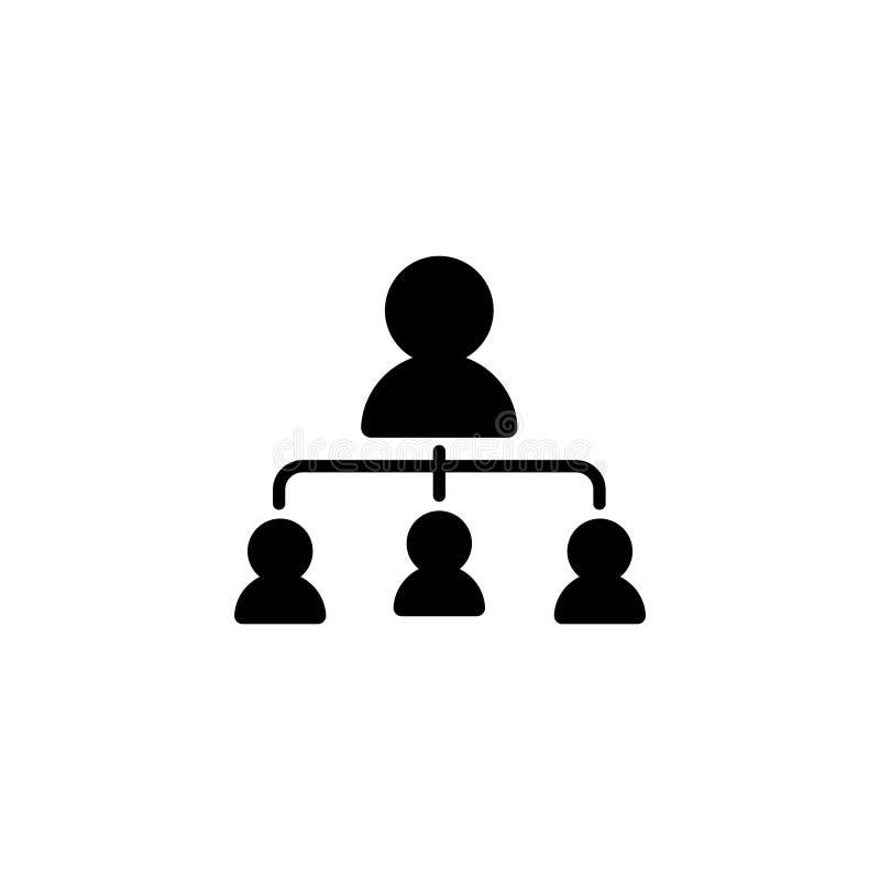 Kreskowa ikona Zarządzanie, grupa ludzi ilustracji
