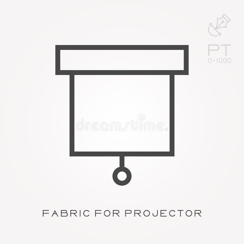 Kreskowa ikony tkanina dla projektoru Prosta wektorowa ilustracja z zdolno?ci? zmienia? ilustracji