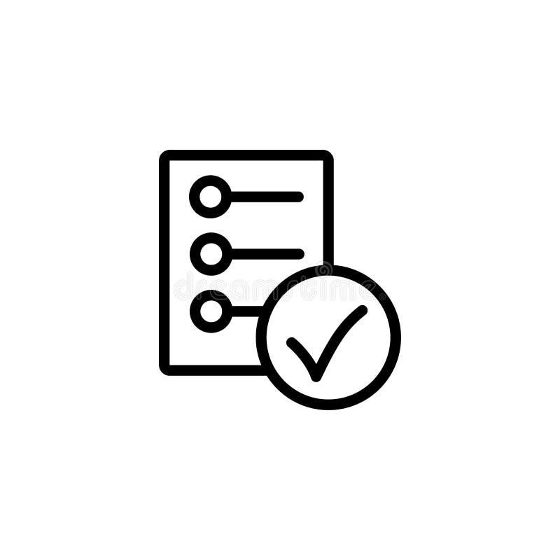 kreskowa lista kontrolna, raportowa ikona na białym tle ilustracji