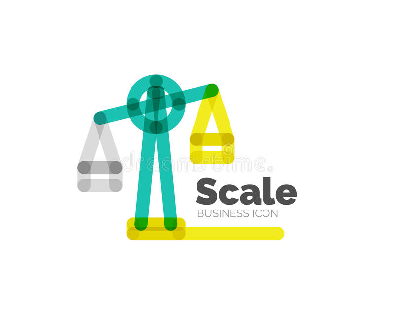 Kreskowa minimalna projekta loga skala ilustracji