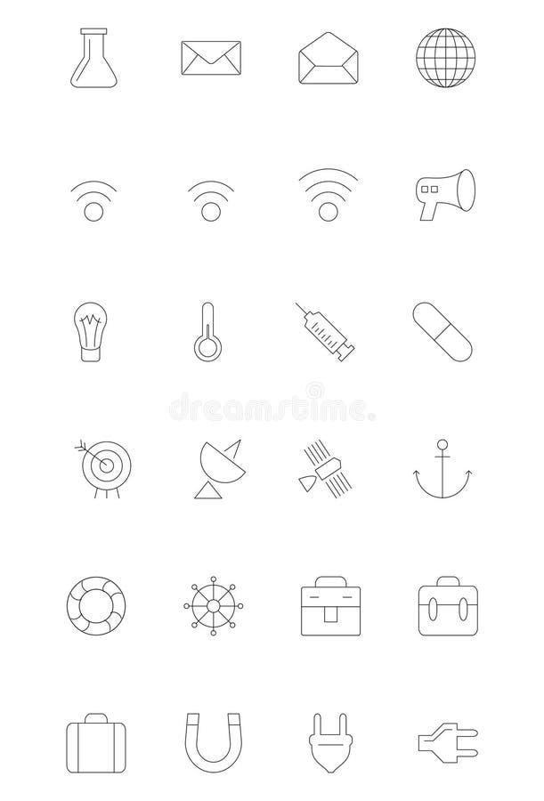 Kreskowe ikony 10 ilustracja wektor